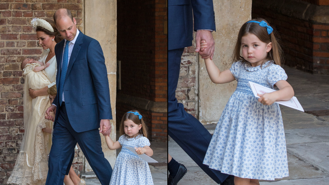 Princess Charlotte Tells Photographer 'You're Not Coming' Outside Prince Louis' Christening