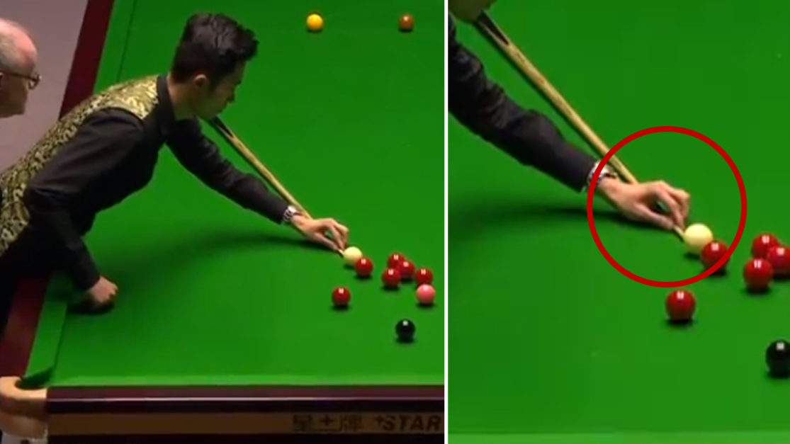 Chinese Player Produces The Most Bizarre Shot Of All Time During Scottish Open Final