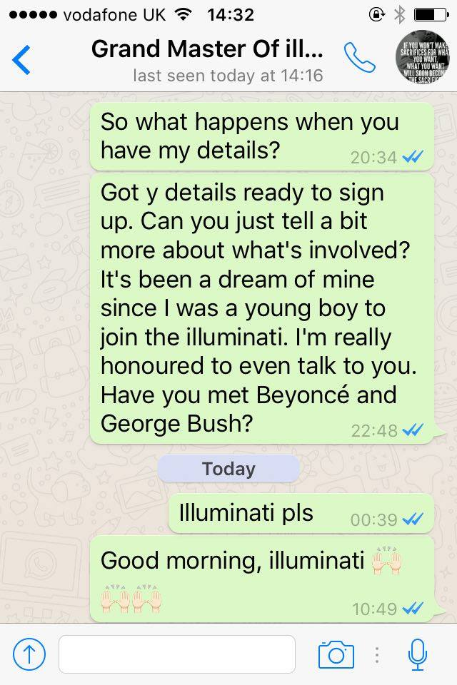 When I Tried To Join The Illuminati I Found Out That Noel