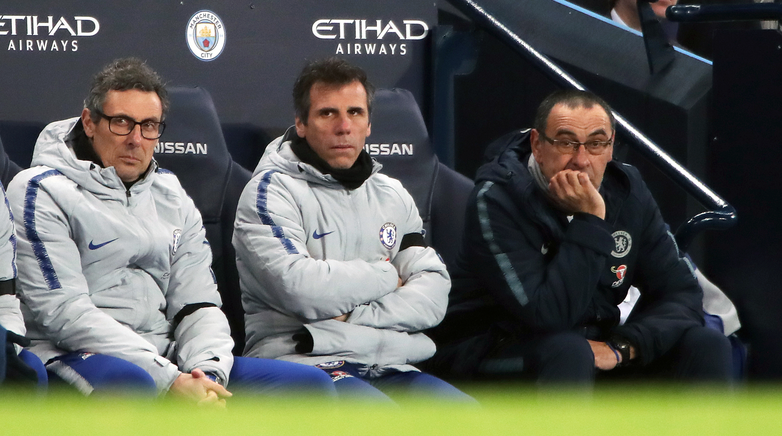 It wasn't a good afternoon at all for Sarri. Image: PA Images