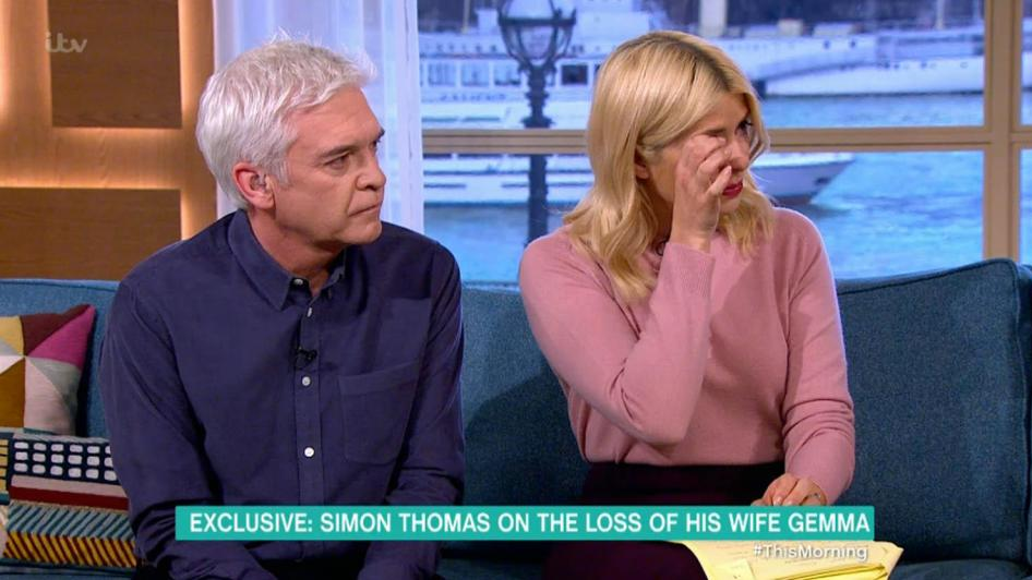 Holly Willoughby Breaks Down As Simon Thomas Talks About Losing His Wife