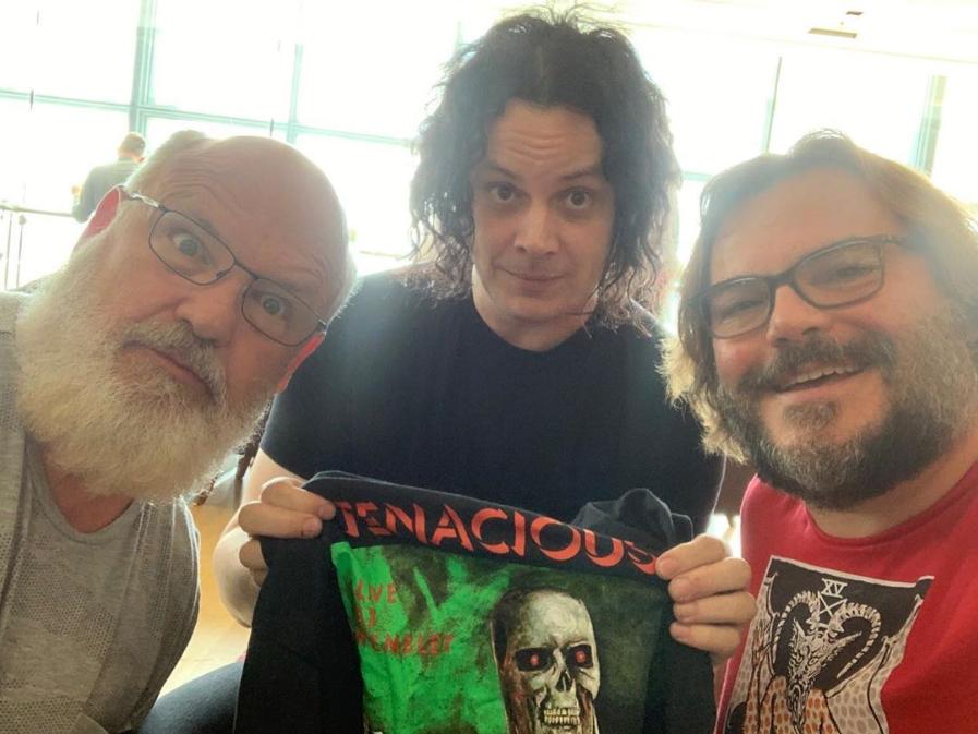 Jack White has met Jack Black... and Kyle from Tenacious D. Credit: Instagram/Tenacious D