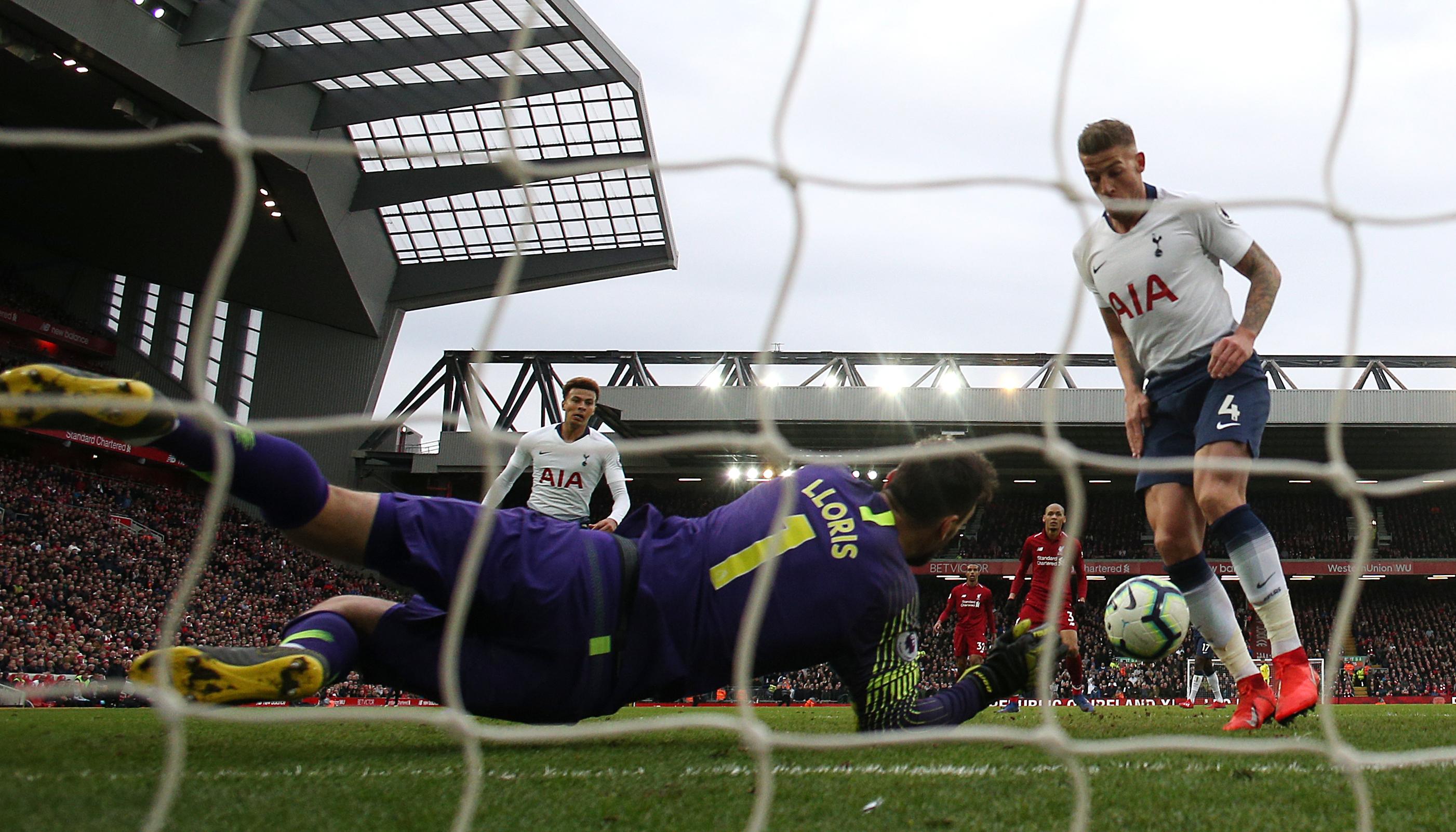 Lloris spilled the ball from Salah's meek header. Image: PA Images