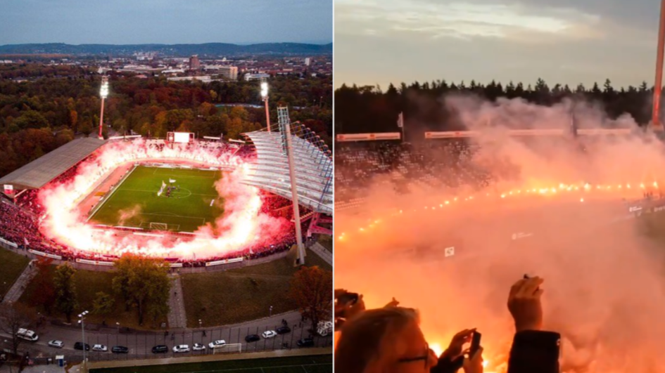 These Are The Scenes At A German Third Division Game This Weekend