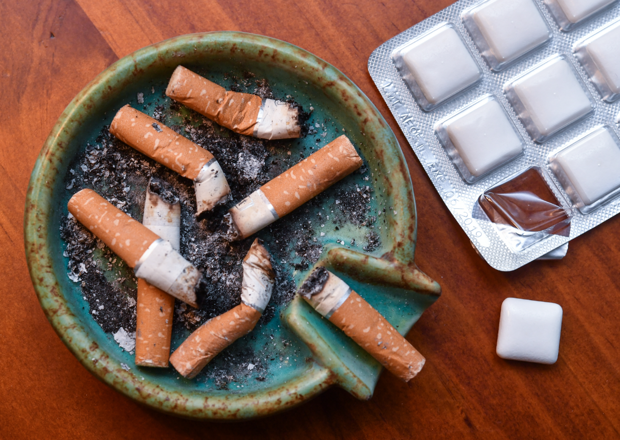Some people try nicotine gum to help curb cravings. Credit: PA
