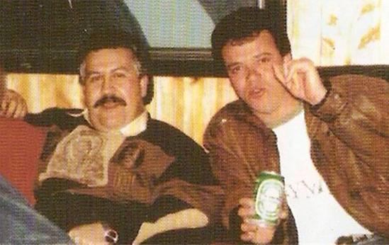 Pablo Escobar with hitman Jhon Jairo Velásquez Vásquez, who was part of the bomb plot that killed 110 people. Credit: Jhon Jairo Velásquez Vásquez
