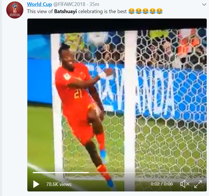 Belgium soccer star Batshuayi hits himself in the face while celebrating