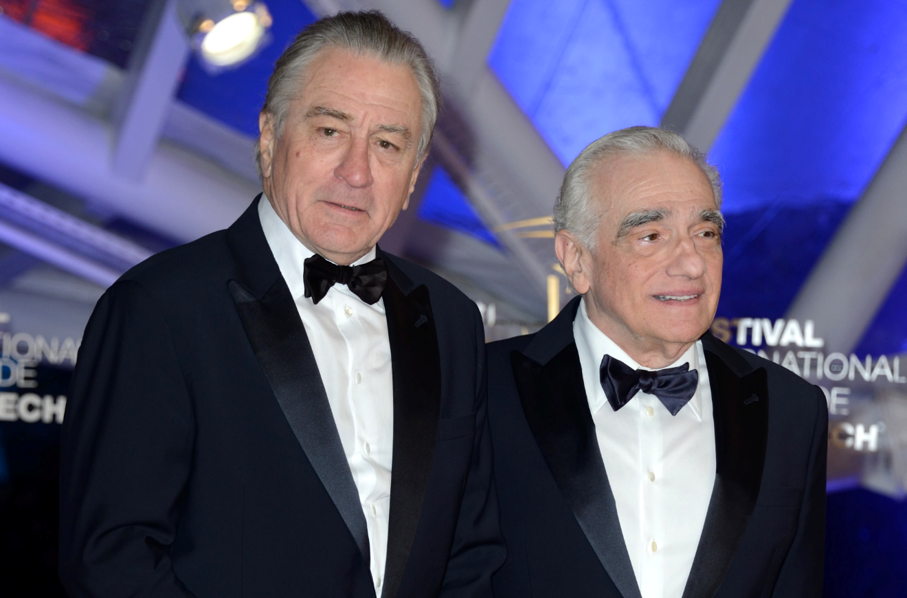 Robert De Niro with Martin Scorsese. Credit PA