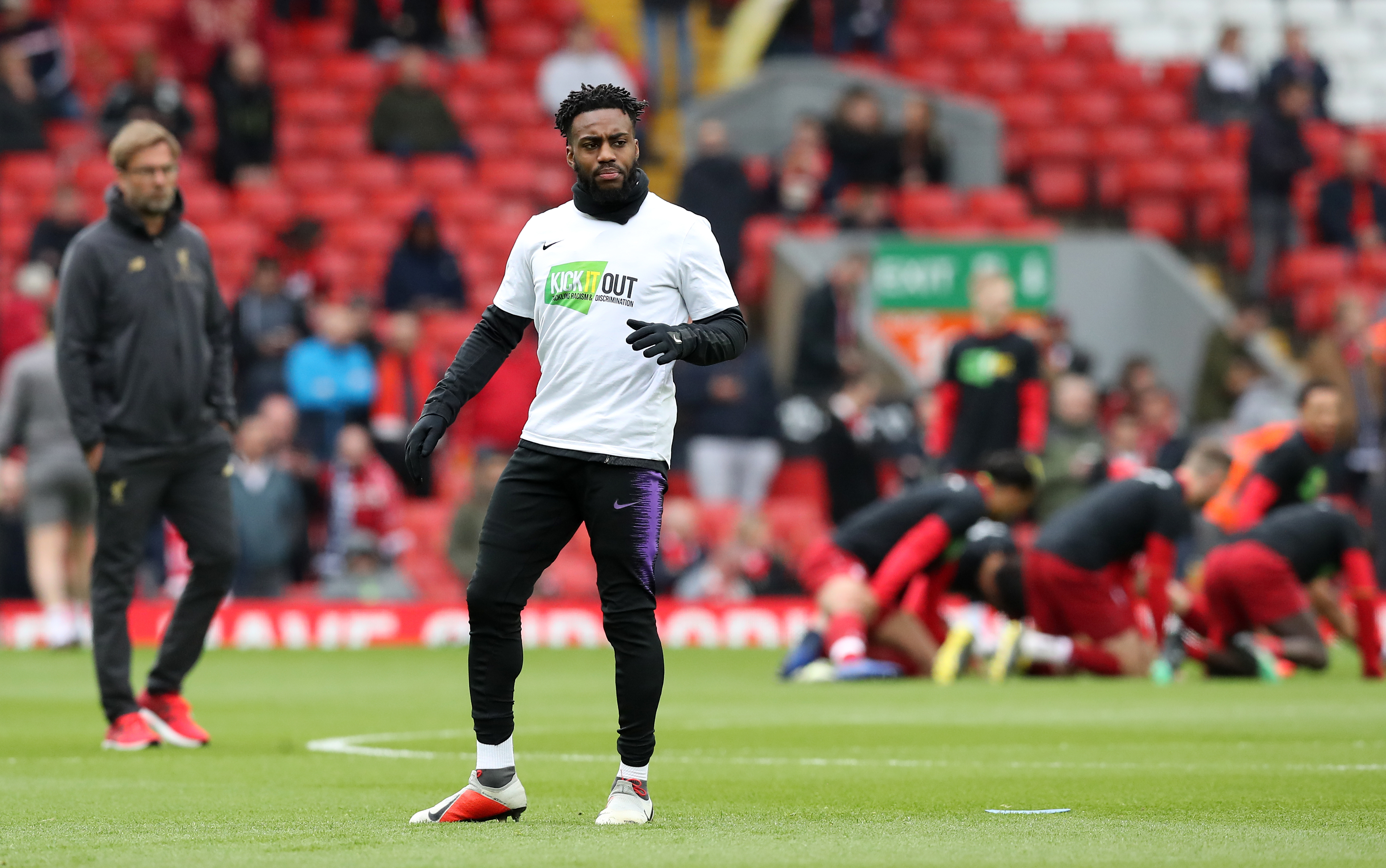Rose sporting a 'Kick it Out' campaign t-shirt but clearly more needs to be done. Image: PA Images