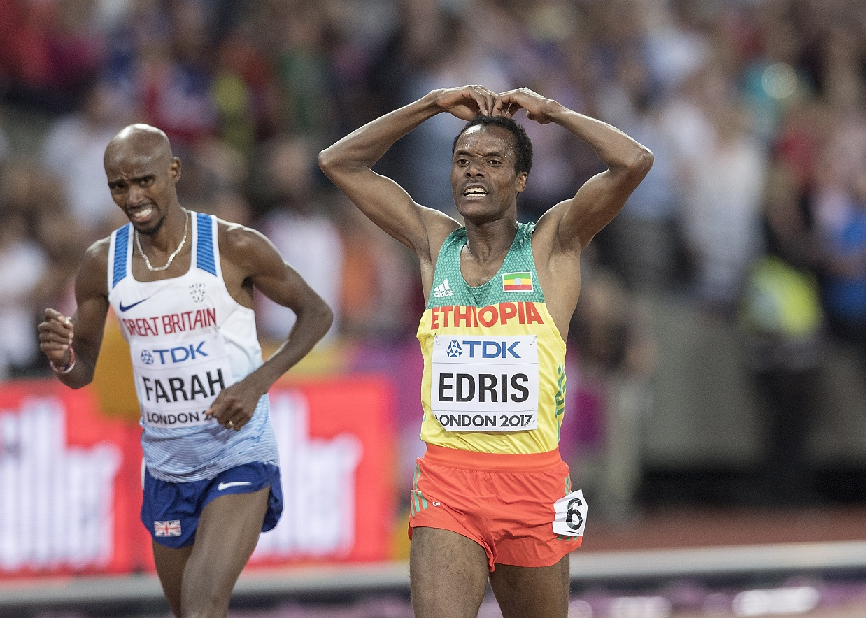 Farah denied winning send-off at London 2017 as Edris claims 5000m gold