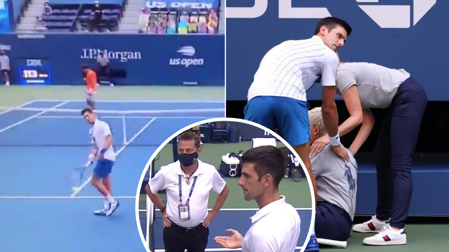 Novak Djokovic Booted From Us Open After Hitting Line Judge With A Ball Sportbible