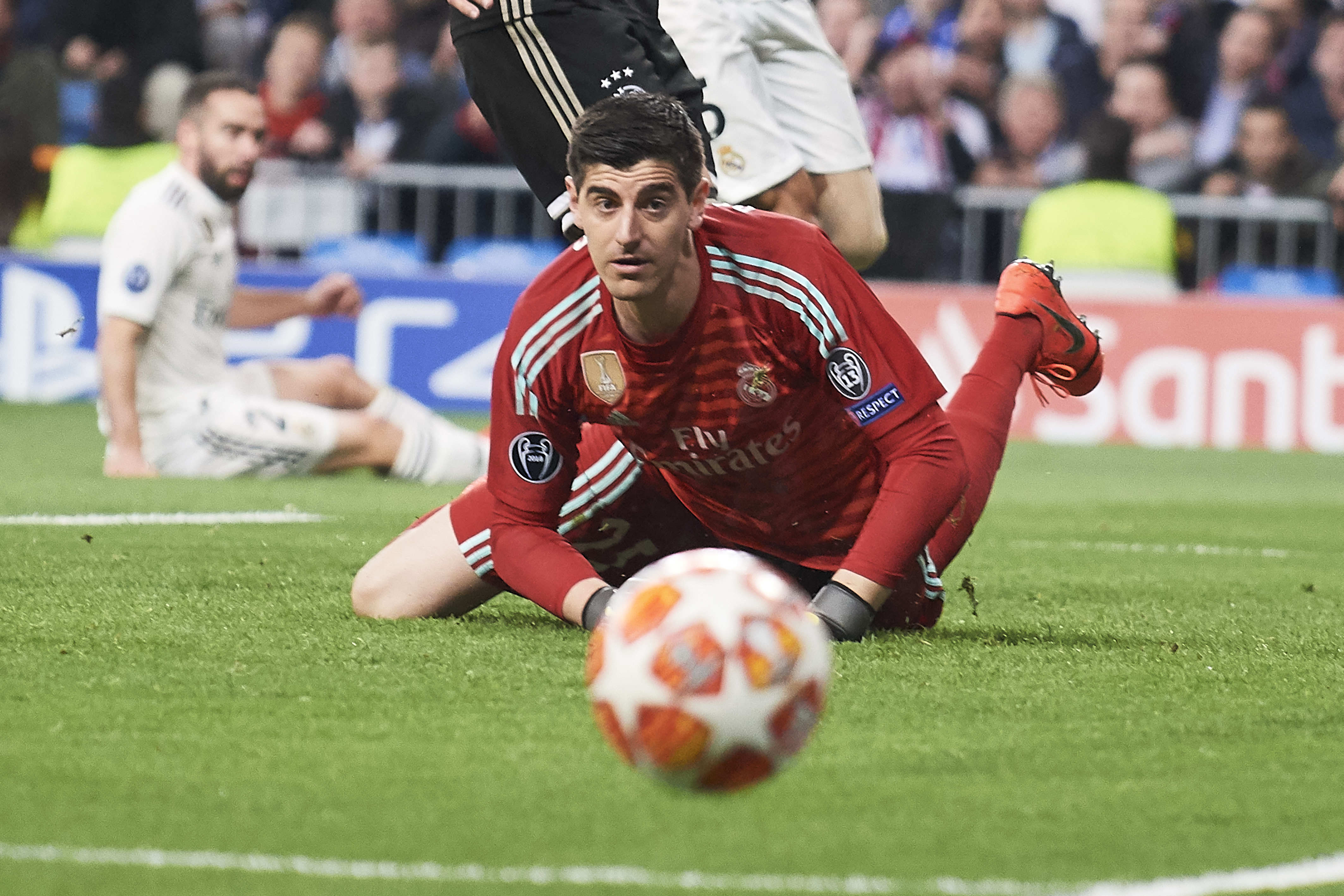 It's not been a good season all round for Courtois. Image: PA Images