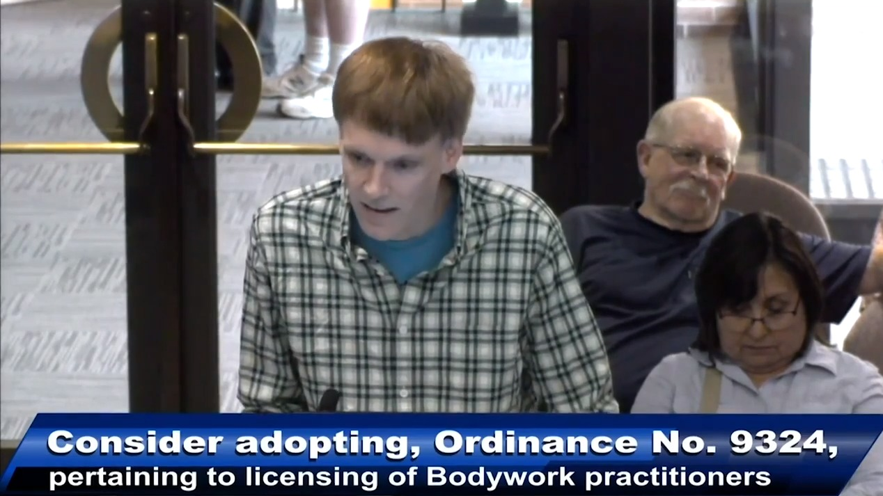 Man Awkwardly Argues In Favour Of Legalised 'Happy Endings' At Council Meeting