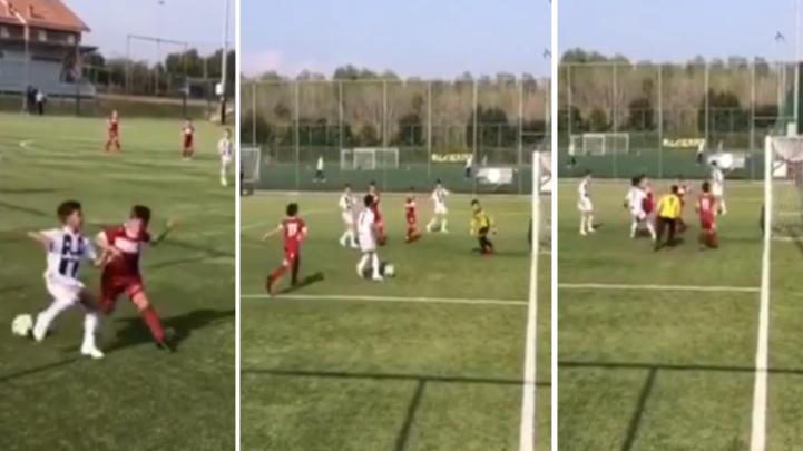 Cristiano Ronaldo Jr Scores A Ridiculous Solo Goal For Juventus Under 9's