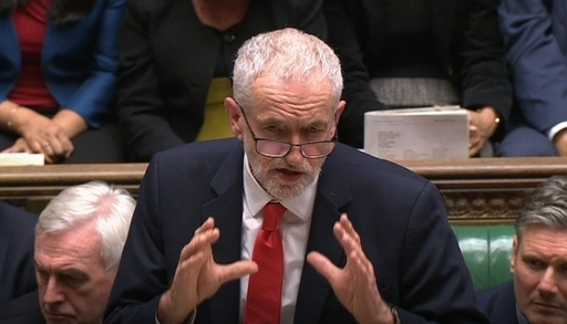 Labour leader Jeremy Corbyn speaks to MPs in the House of Commons. Credit: PA