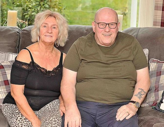 Ricky Kennedy and his wife Ghislaine. Credit: Media Scotland