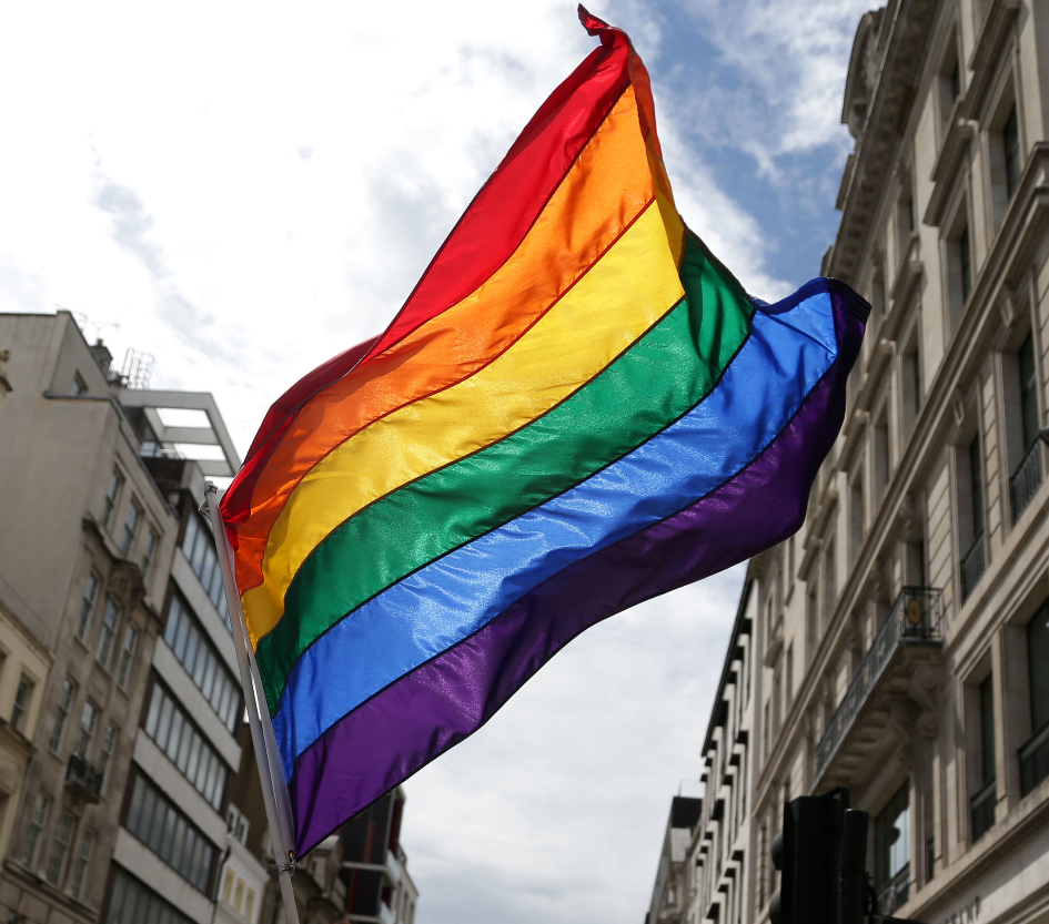 A Pride flag. Credit: PA