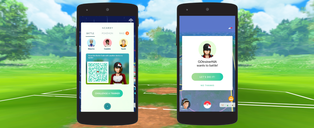 Trainer Battles are coming to Pokémon GO. Credit: Niantic/The Pokémon Company