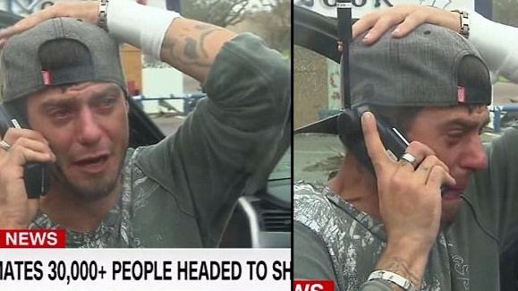 Emotional Moment Man Finally Contacts His Dad Following Hurricane Harvey
