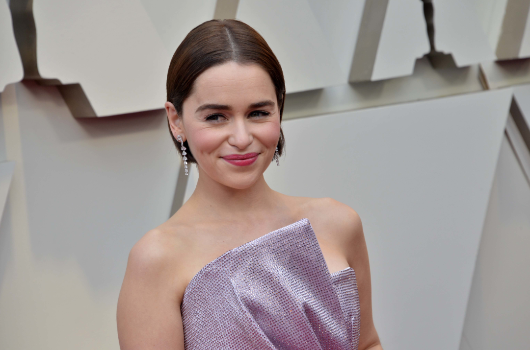 Emilia Clarke at this year's Oscars ceremony. Credit: PA