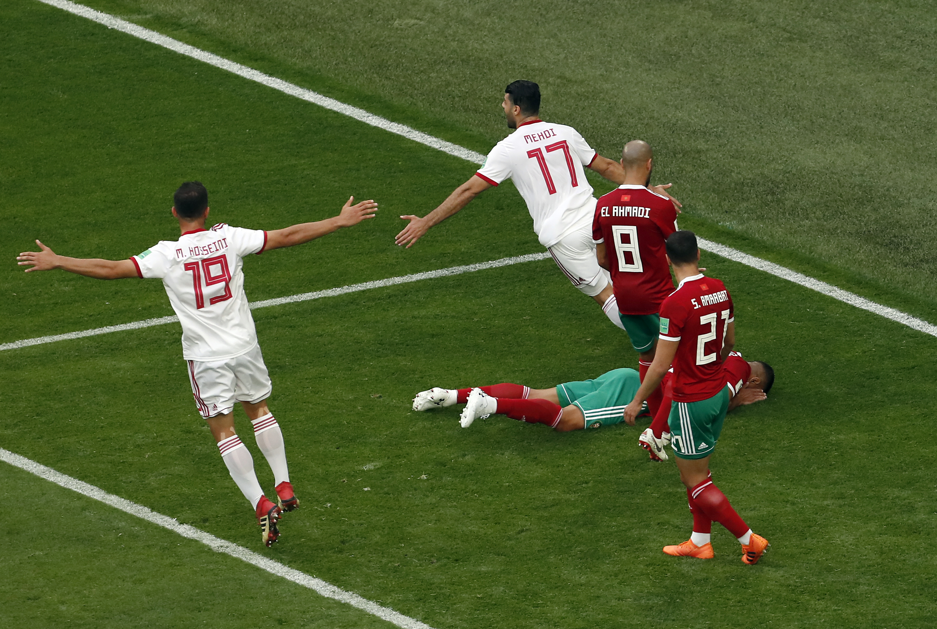 Morocco loses to Iran on own goal in stoppage time