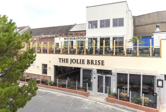 The exterior of The Jolie Brise in Teignmouth, Devon. Credit: JD Wetherspoon
