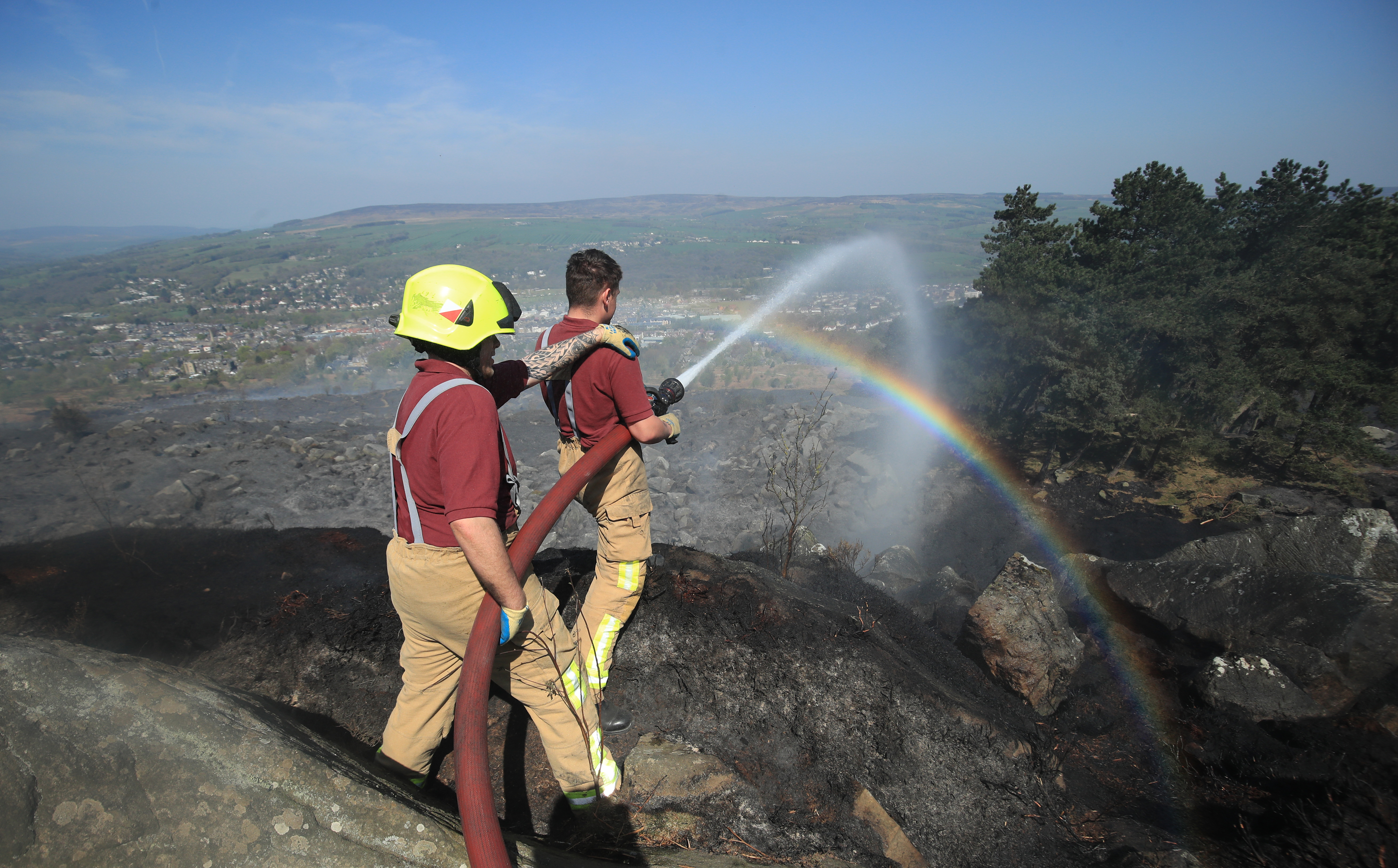 Firefighters battled the fire over Easter bank holiday weekend. Credit: PA