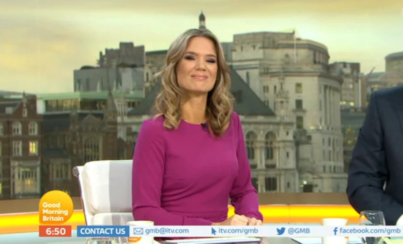 Cameras shifted their gaze to Charlotte Hawkins after the blackout. Credit: ITV/Good Morning Britain