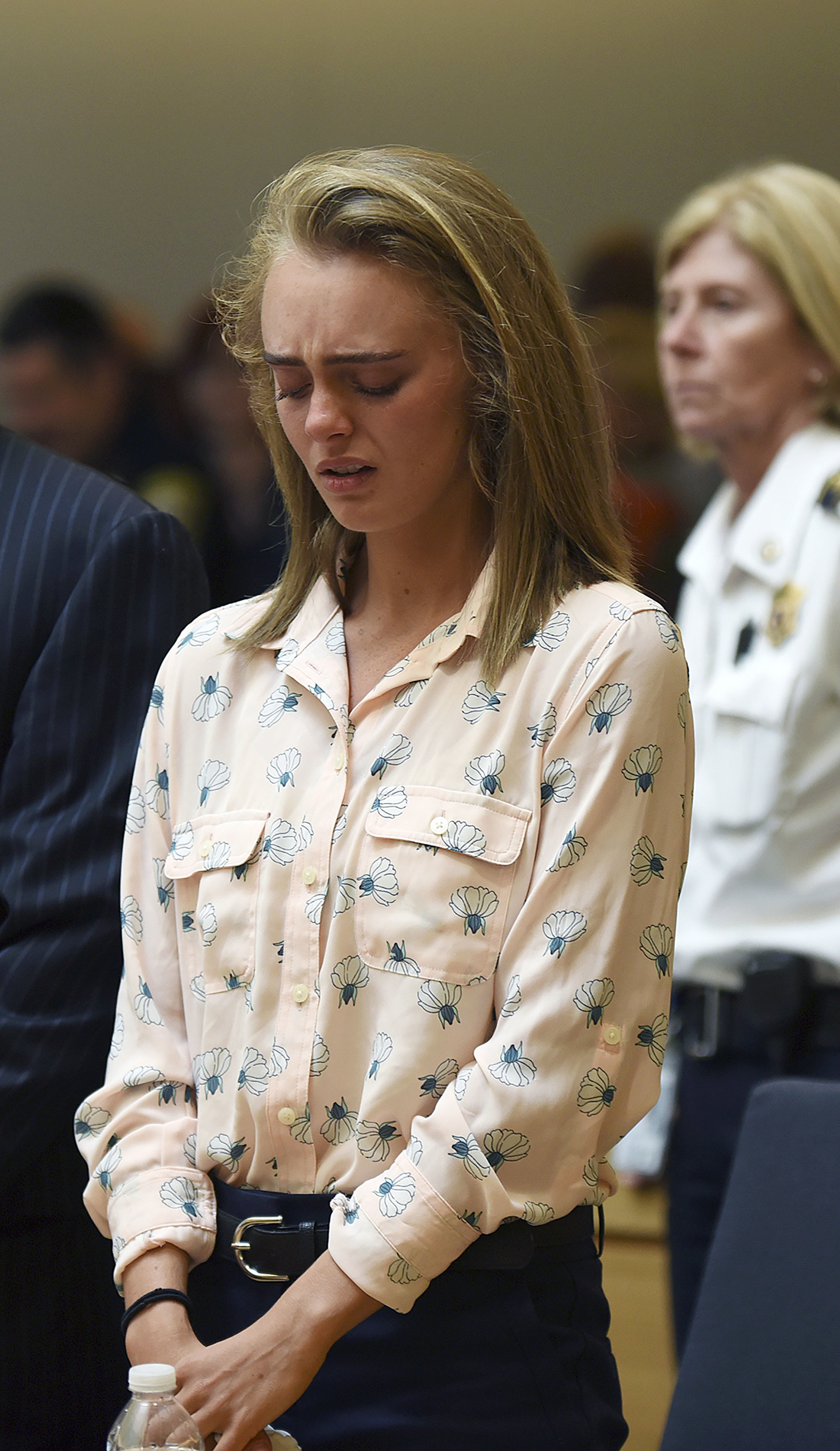Michelle Carter cried after being found guilty of involuntary manslaughter. Credit: PA