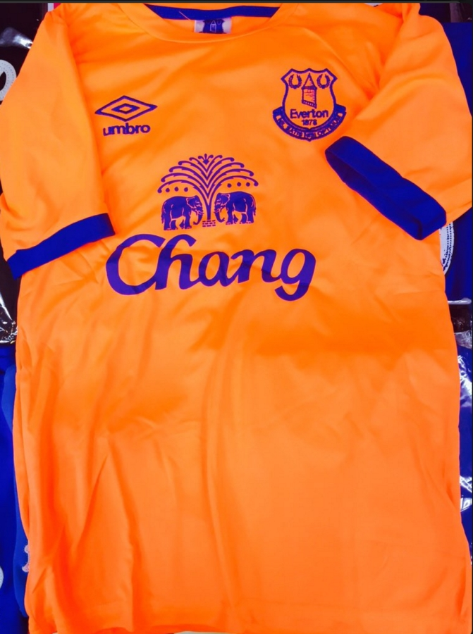 7f648793083 As mentioned, the kit hasn't been officially unveiled yet, but it should  make for an interesting reaction when Everton do.