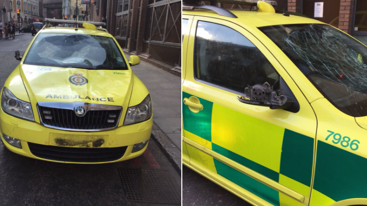 Four Fans Charged With Damaging An Ambulance After England's World Cup Quarter Final