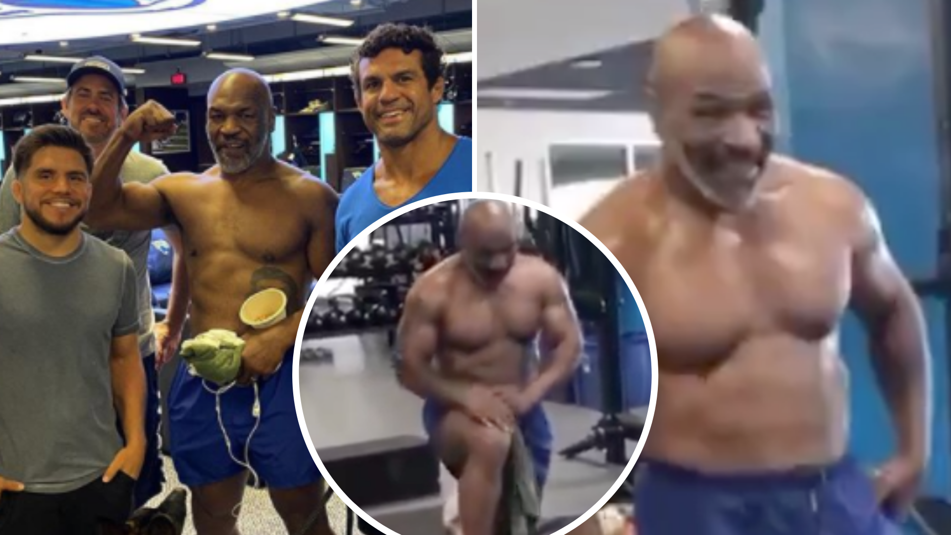 Mike Tyson Shows Off Shredded Physique During Training Session With Ufc Legend Vitor Belfort Sportbible