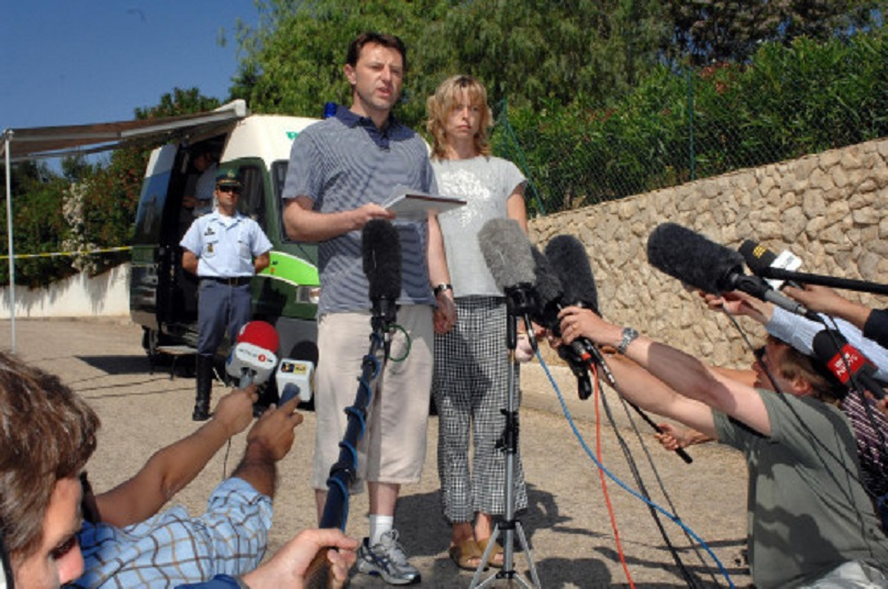 Gerry McCann gave a statement in Portugal back in May 2007 after Madeleine's disappearance. Credit: PA