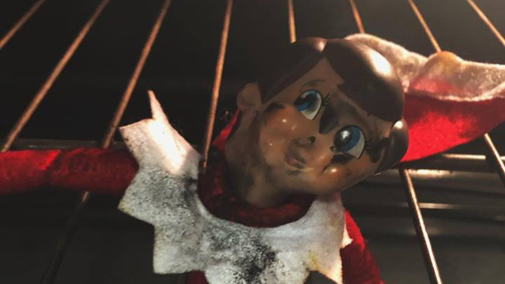 Mum Accidentally Cooks Her 'Elf On A Shelf' In The Oven