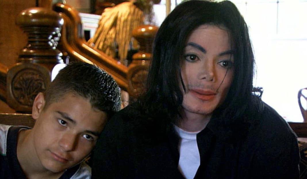Gavin Arvizo and Jackson. Credit: ITV/Granada Studios