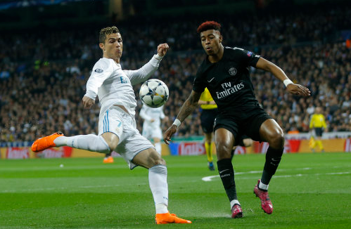 Kimpembe in action against Real Madrid. Image: PA