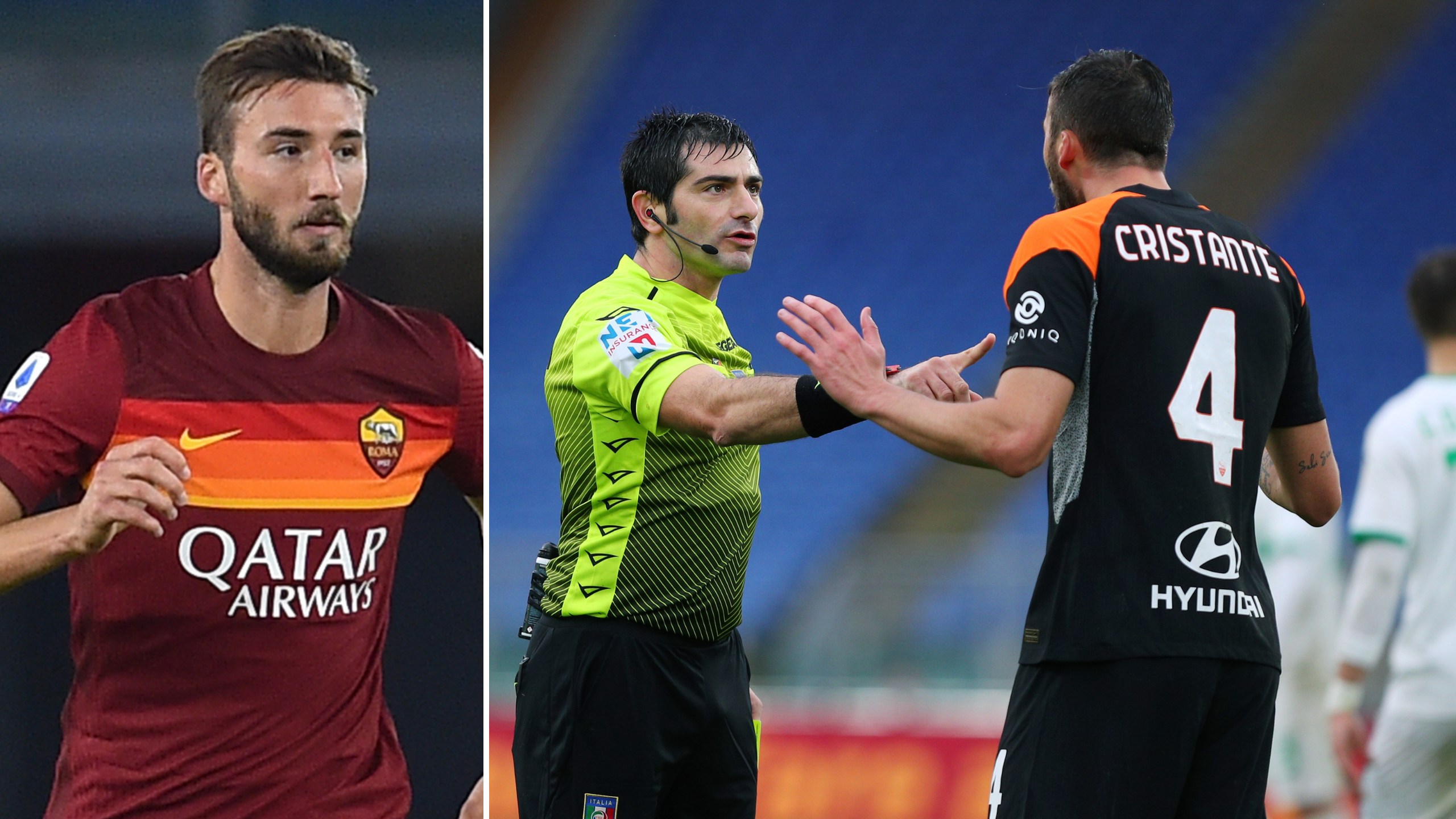 Roma's Bryan Cristante Banned For Making 'Blasphemous Expressions'
