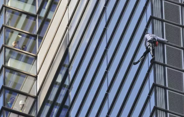 London daredevil scales one of Europe's tallest buildings