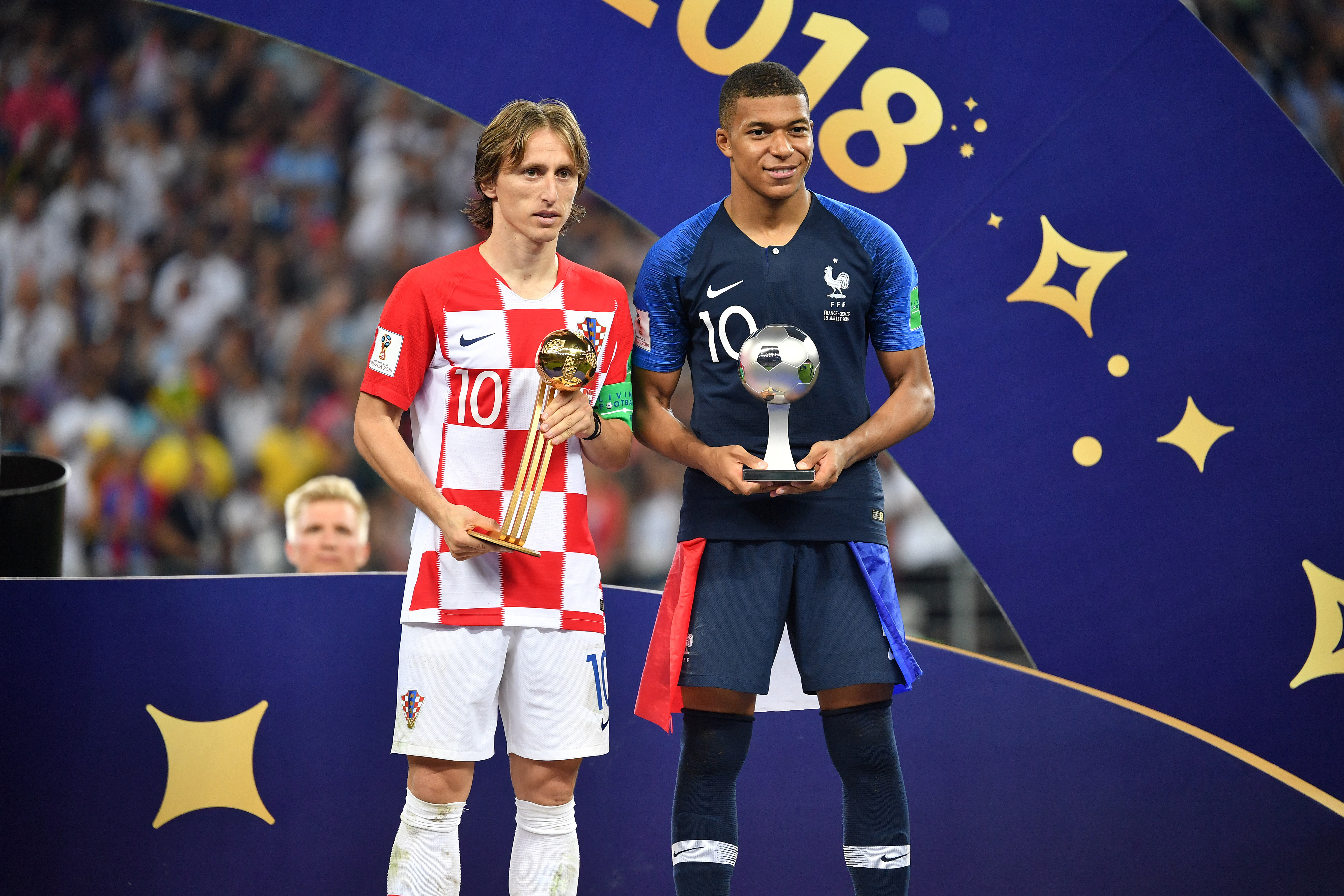Modric won the award for the best player at the World Cup. Image: PA