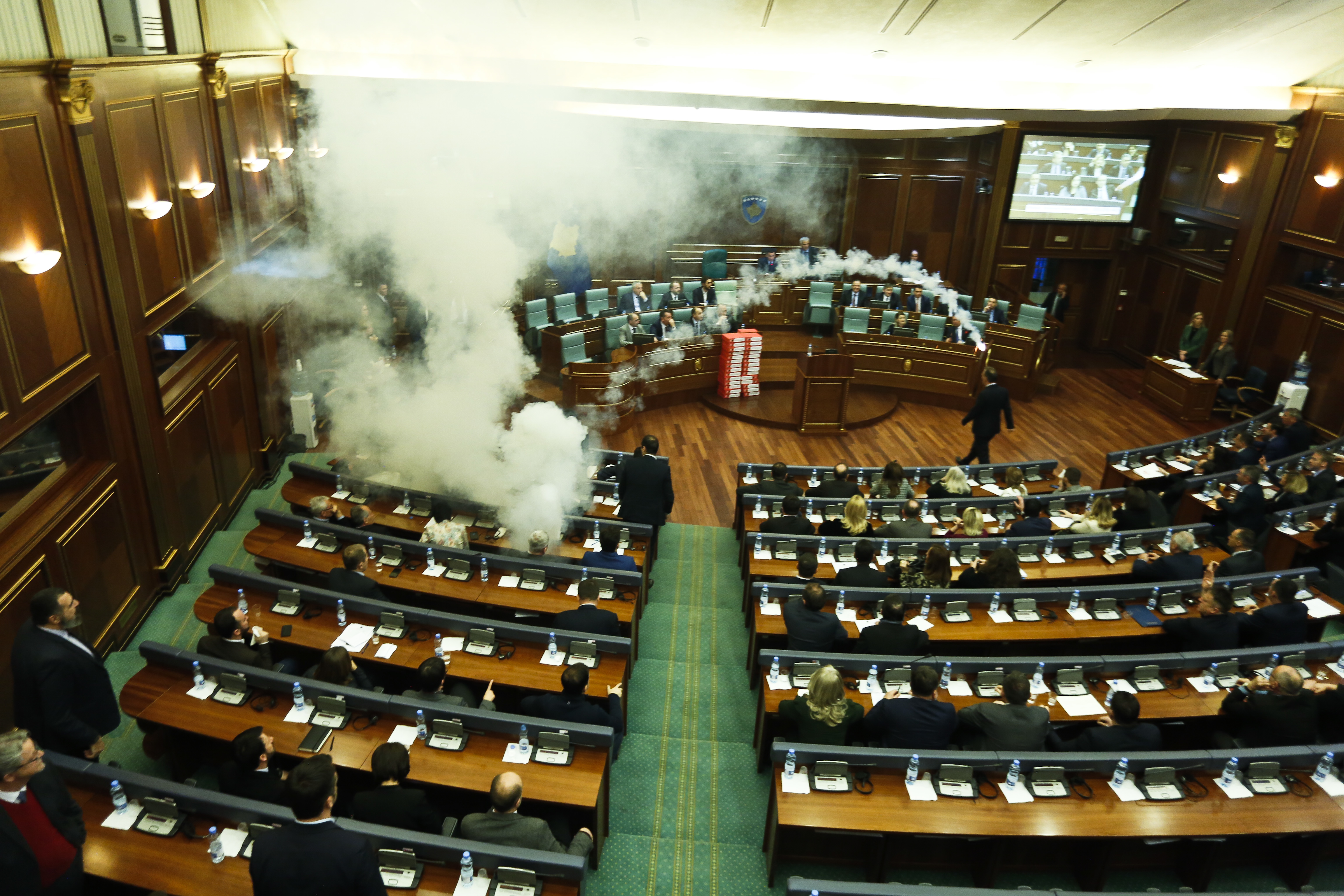Opposition Leaders Throw Tear Gas Inside Chambers of Kosovo Parliament