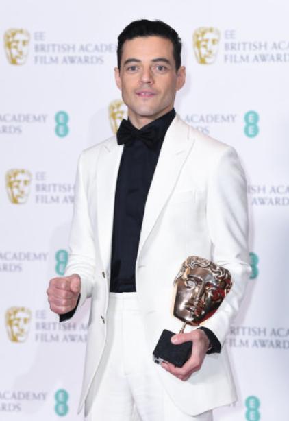 Rami Malek At The BAFTAs. Credit: PA