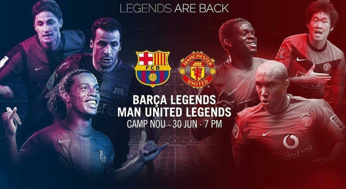 Barcelona legend Ronaldinho destroys Man Utd legend, but can't prevent defeat