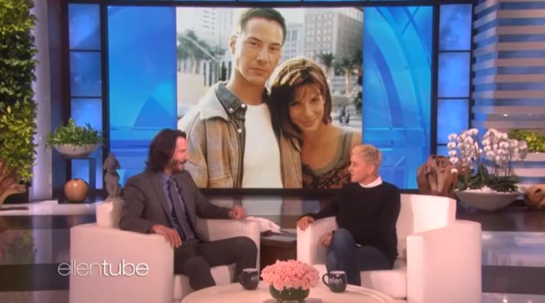 Keanu Reeves speaking to Ellen DeGeneres. Credit: NBC