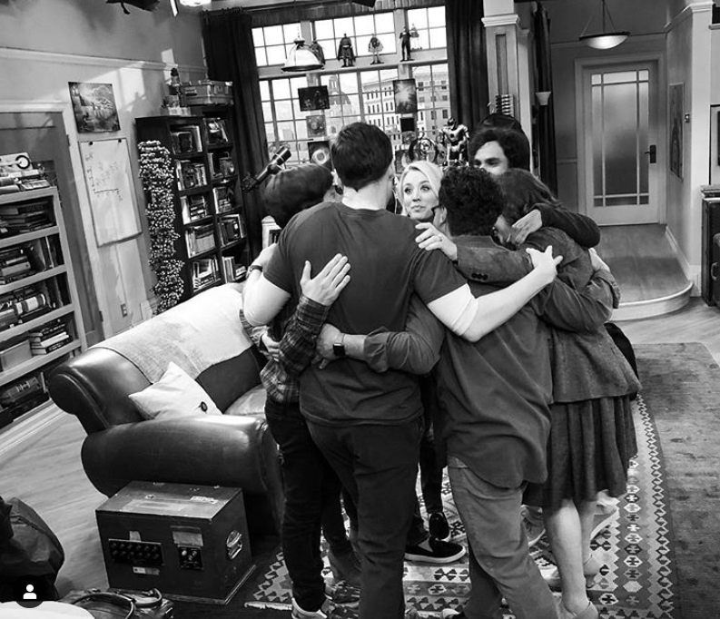 Kaley posted the black and white shot of the cast's final scene together. Credit: Instagram/Kaley Cucuo