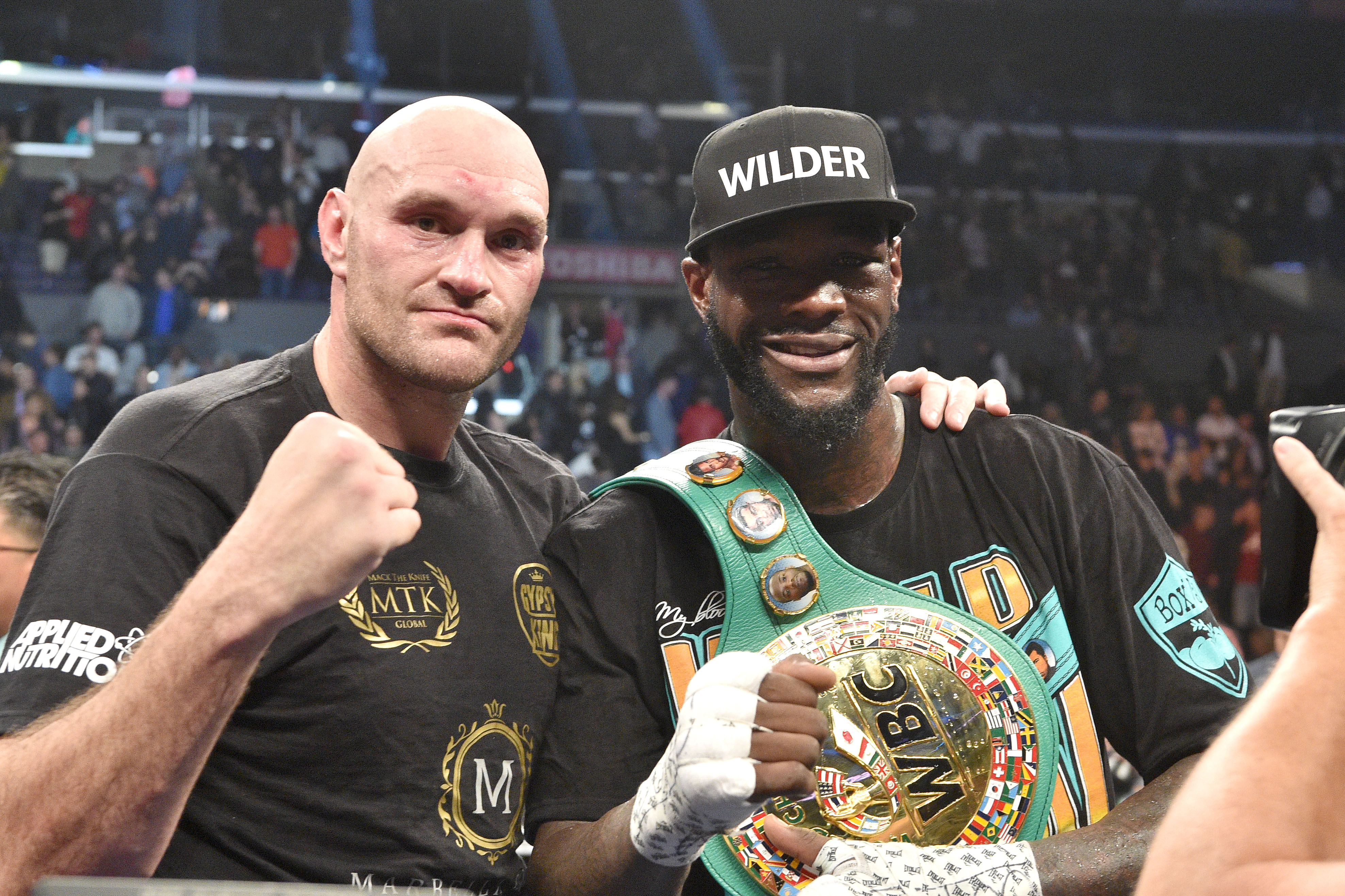 Fury and Wilder after the fight. Image: PA Images
