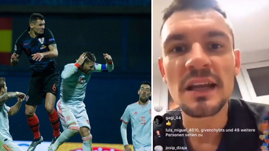 Dejan Lovren Brags About Elbowing Sergio Ramos On Instagram