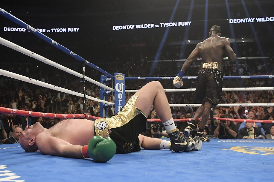 Tyson Fury produced a miraculous recovery against Deontay Wilder. Credit: PA