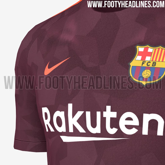 Penampakan jersey ketiga Barcelona pada musim depan. (the Lad Bible Group)