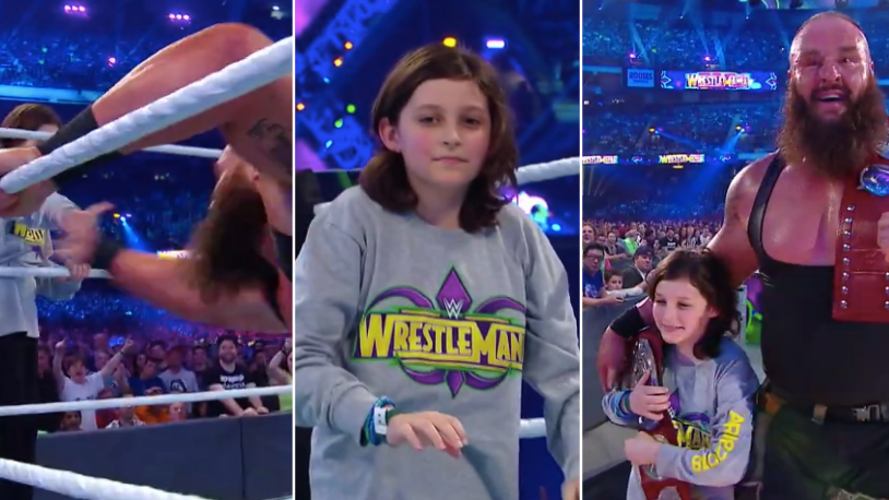 Braun strowman and a random 10 year old won the raw tag team titles sportbible - Braun strowman theme ...
