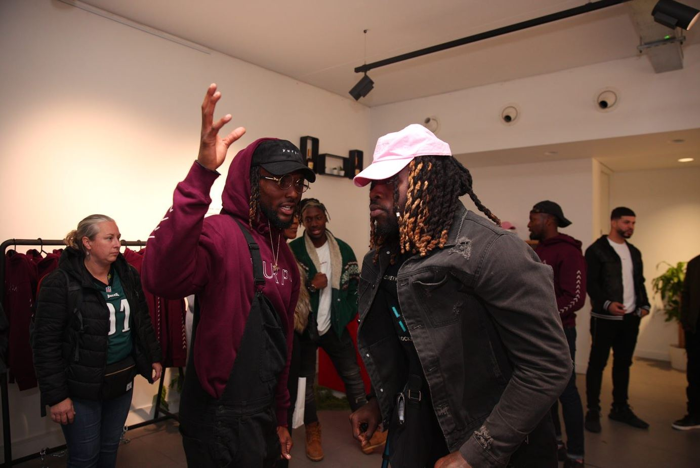 Jay Ajayi at the pop-up his YURP^ event